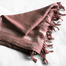 Load image into Gallery viewer, Hand woven organic cotton shawl
