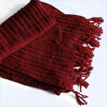 Load image into Gallery viewer, Fair trade hand knitted, naturally dyed woolen muffler