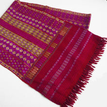 Load image into Gallery viewer, Fair trade hand woven wool muffler with Suf embroidery