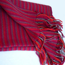 Load image into Gallery viewer, Fair trade hand woven and natural dyed wool muffler