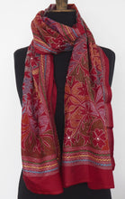 Load image into Gallery viewer, Hand embroidered silk shawl by Alima Khatun