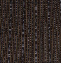 Load image into Gallery viewer, Hand woven black Nuapatna Ikat fabric