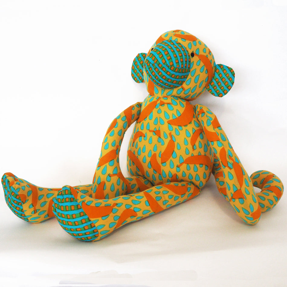 Fair trade Muthu Monkey soft toy - medium