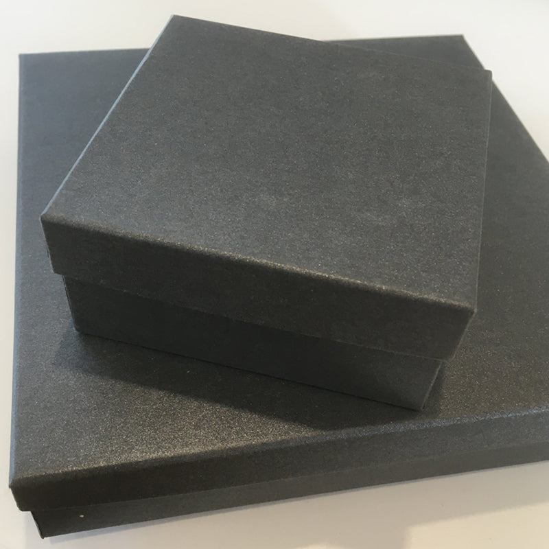 Metallic charcoal gift box - large