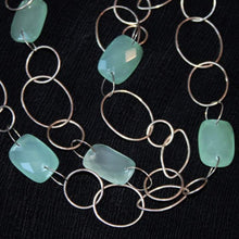 Load image into Gallery viewer, Chalcedony and silver necklace