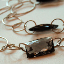 Load image into Gallery viewer, Smoky quartz and silver necklace