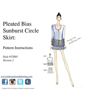 DIY Sunburst Pleated Skirt Pattern