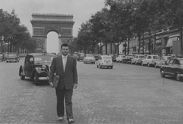 My Father Leon on a business trip in Paris. Old Family Photo