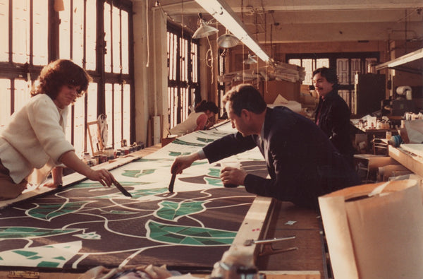Hand Painting Silk in Pleating Factory