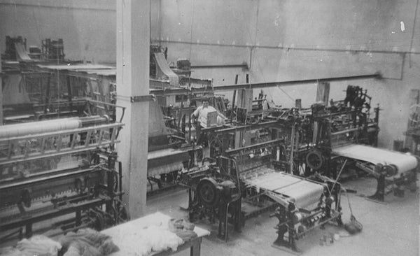 Vintage textile mill in Middle East.  Toms Sons Mfg. 1950's
