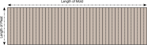 pleating mold size diagram