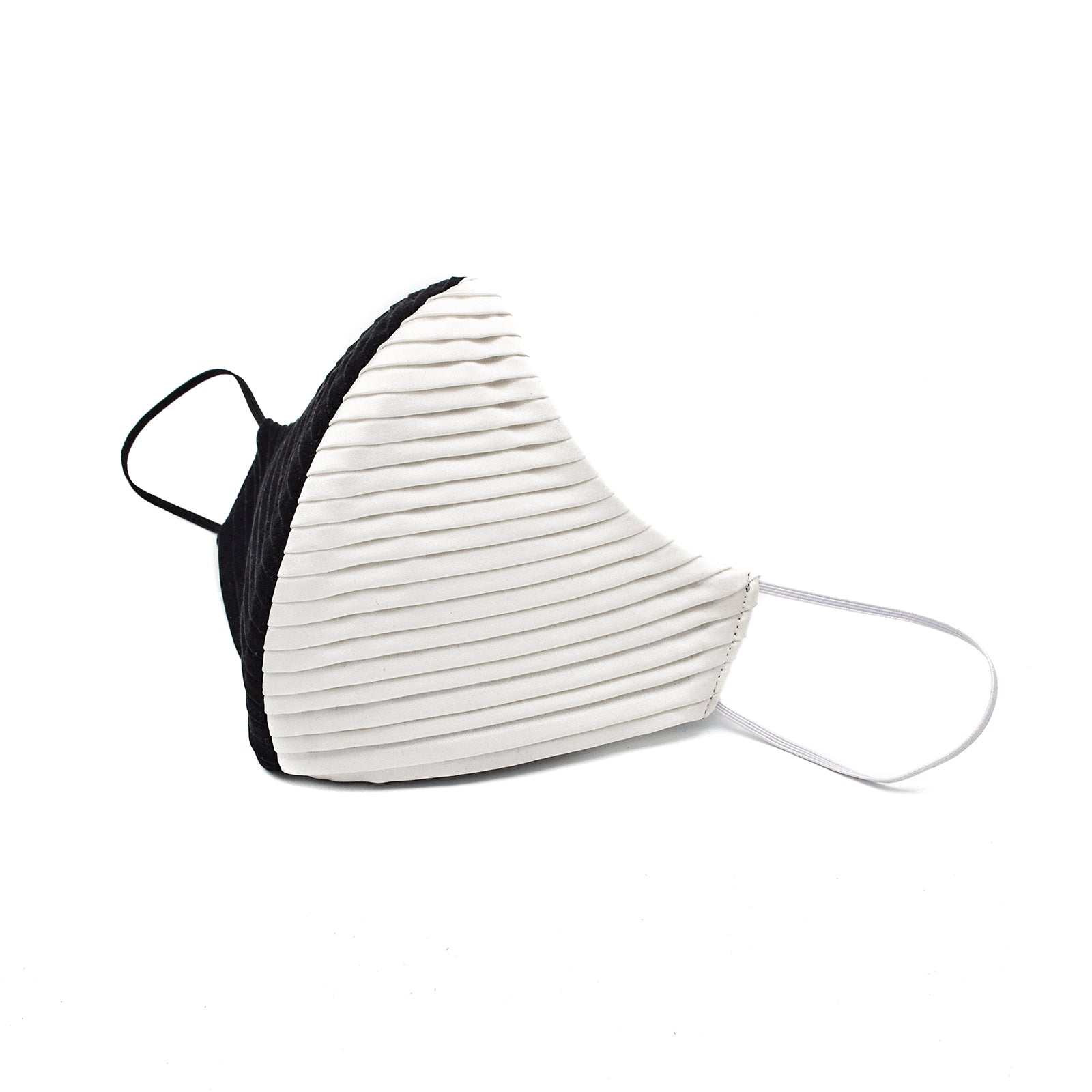 Two Tone Pleated Charmeuse Cheeky Mask