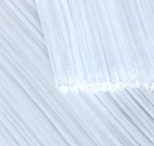 White Mushroom Pleated Polyester Chiffon Fabric