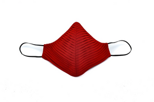 Red Chiffon Side Pleated Cheeky Mask