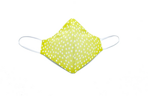 Lime Green Polka Dot Cheeky Mask