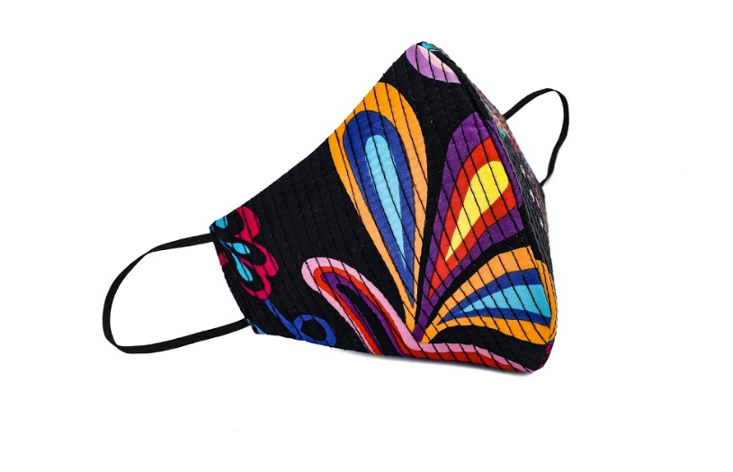 Multi Color Floral Print Quilted Standard Mask