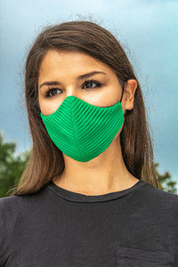 Green Side Pleated Cheeky Mask