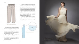 look inside page 24 of pleating: fundamentals for fashion design by Leon Kalajian and George Kalajian, forward by Jack Sauma