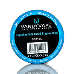 VANDY VAPE SUPERFINE MTL SPECIALTY WIRE SPOOL - 10 FEET