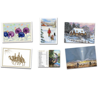 5 Christmas Cards and Bonus 2018 Pocket Calendar