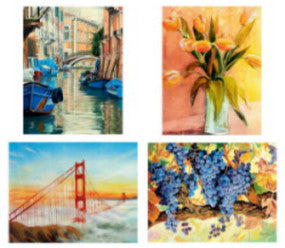 Attractive Set of 4 Art Prints #2