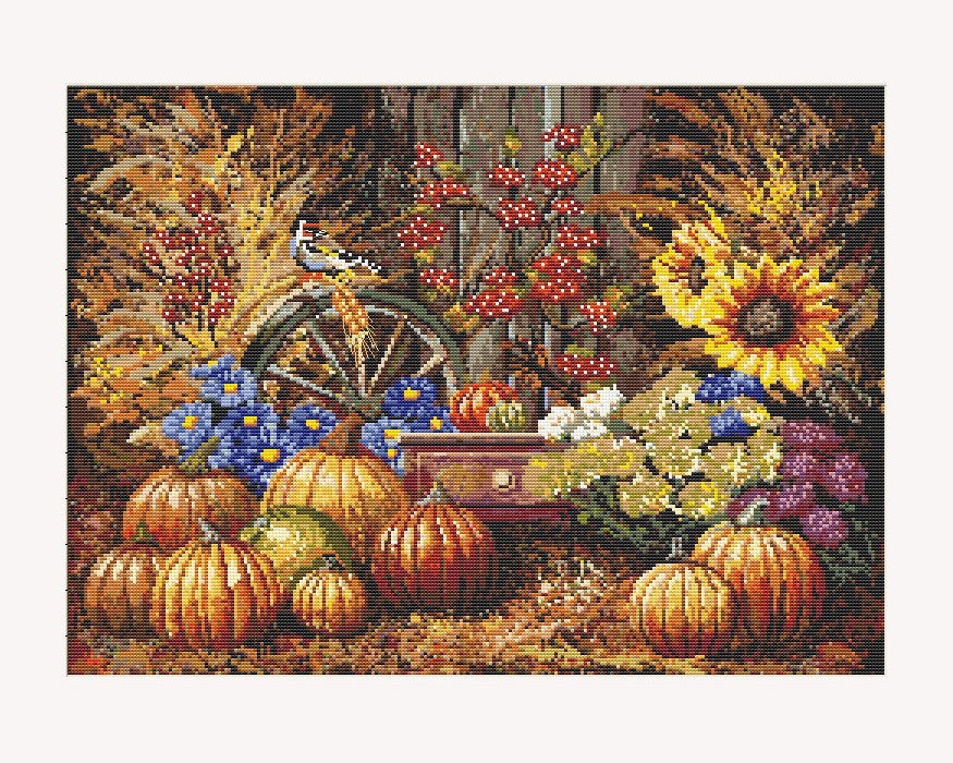 "Unique Cross Stitch Set ""Harvest"" <font color='red'>Special Offer </font>"