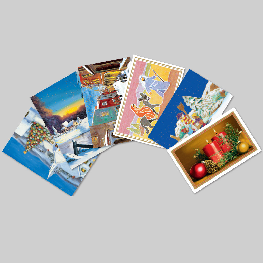 Six Christmas Cards w/ Envelopes