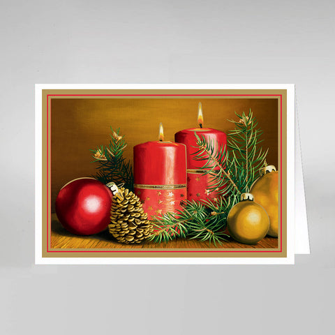 Six Assorted Festive Cards & Envelopes