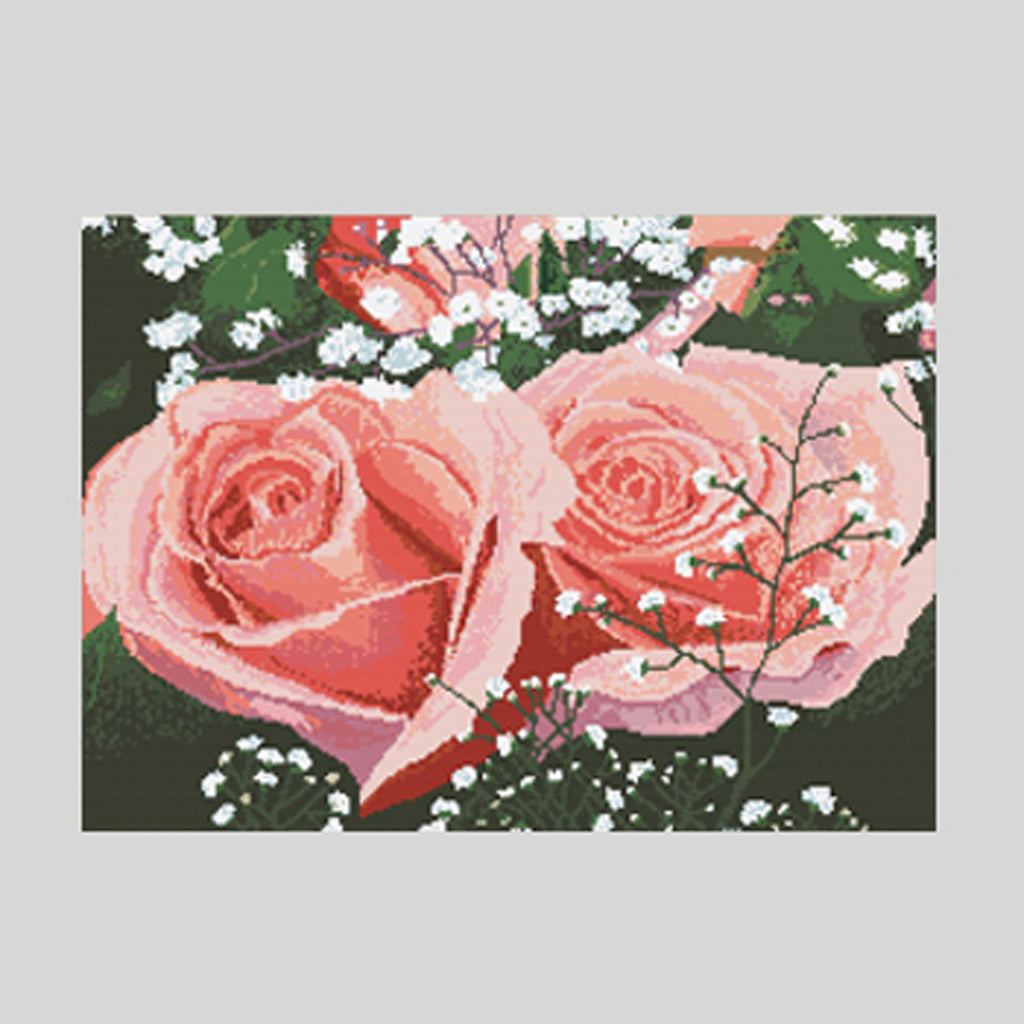 "Unique Cross Stitch Set ""Roses"" - Special Offer"