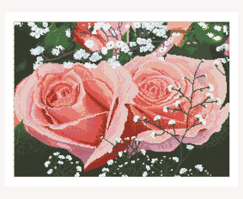 "Unique Cross Stitch Set ""Roses""<font color=""red"">Special Offer </font>"