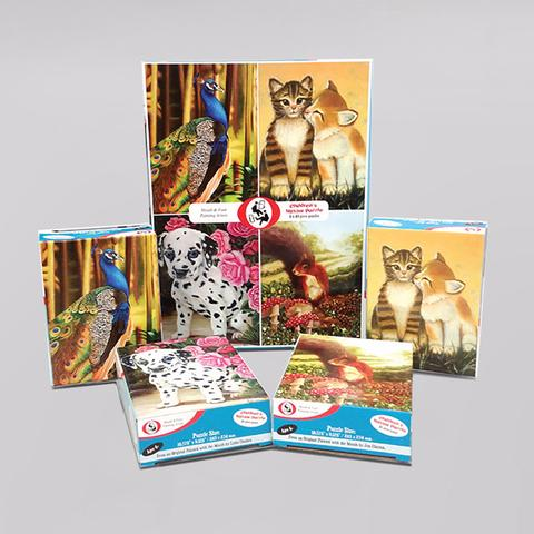 "Jigsaw Puzzles for Children (Set of 4) ""Joyful Scenes"""