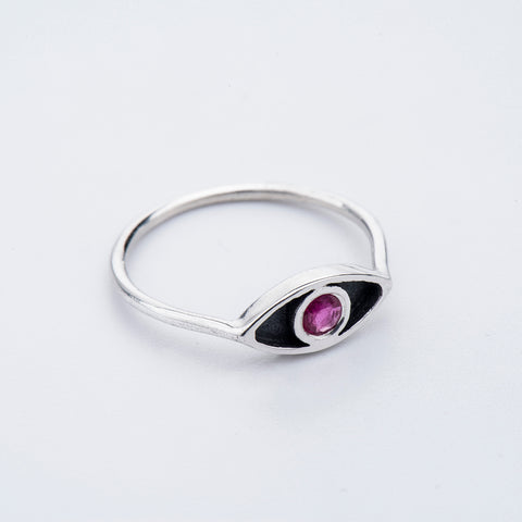Gemstone Eye Ring