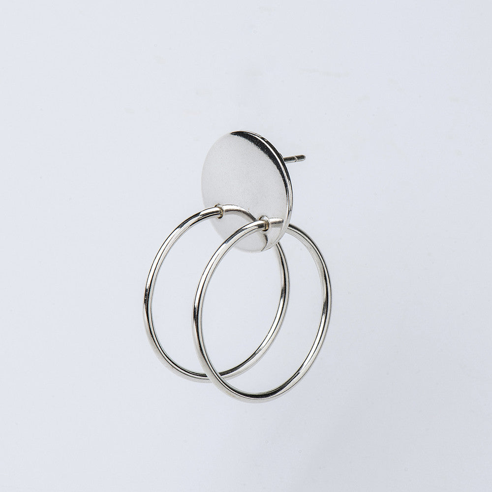 Born from Rock Double Hoop Earring