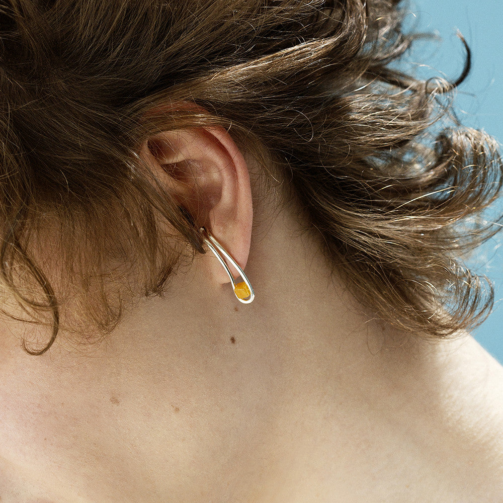 Born from Rock Yellow Jade Drip Earring