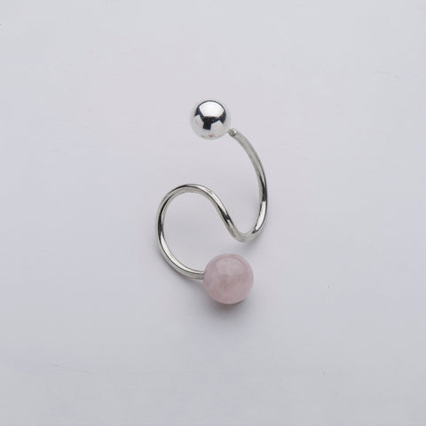 Born from Rock Silver Float Earring