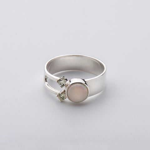 Born from Rock Opal Threesome Ring