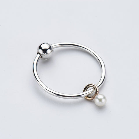 Born from Rock Pearl Mini-Sinker Earring