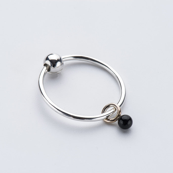 Born from Rock Onyx Mini-Sinker Earring