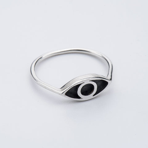 Born from Rock silver Eye Ring