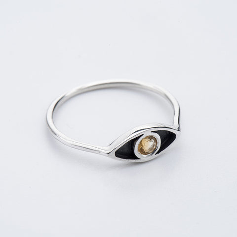 Citrine Eye Ring
