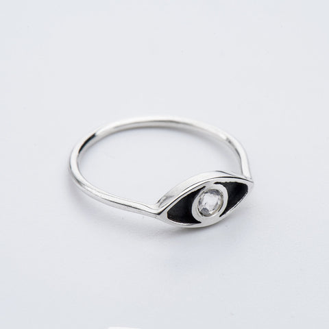 Born from Rock Moonstone Eye Ring