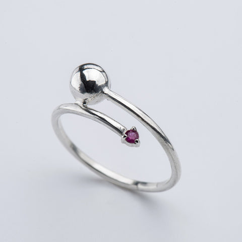 Ruby Comet Ring