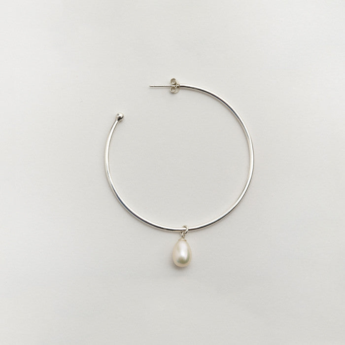 Born from Rock Pearl Hoop Earring