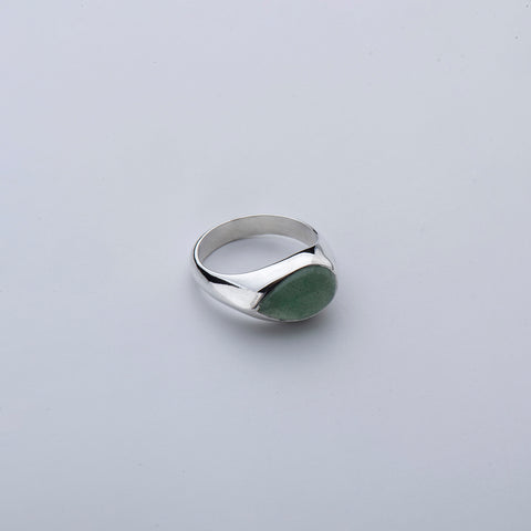 Aventurine Tear Ring