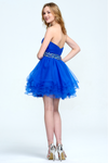 Ball-Gown/Princess Sweetheart Short/Mini Tulle Homecoming Dress With Sequins Belt