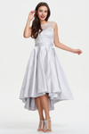 A-Line Scoop Neckline Sweetheart Hign Low Homecoming Dress With Lace