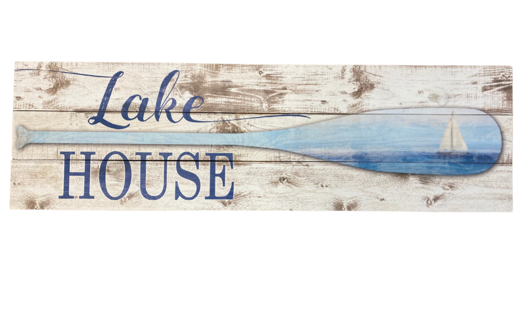 """Lake House"" wooden sign"