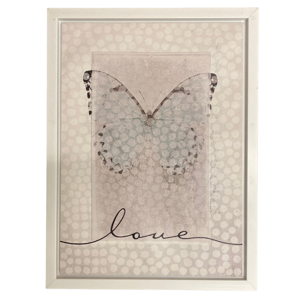 """Love"" Butterfly canvas"