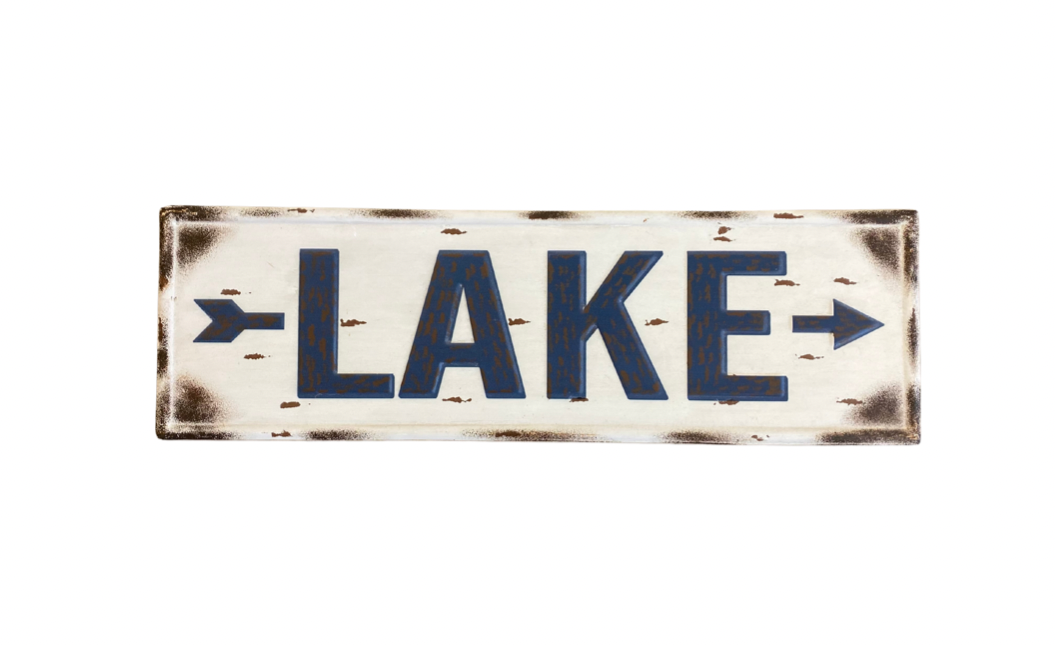 Rusted Lake sign