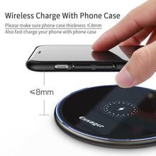 Load image into Gallery viewer, Essager 15W Qi Wireless Charger For iPhone 11 Pro Xs Max X Xr 8 Induction Fast Wireless Charging Pad For Samsung S20 Xiaomi mi 9